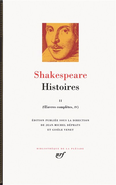 Shakespeare, Histoires II, Oeuvres complètes, tome IV