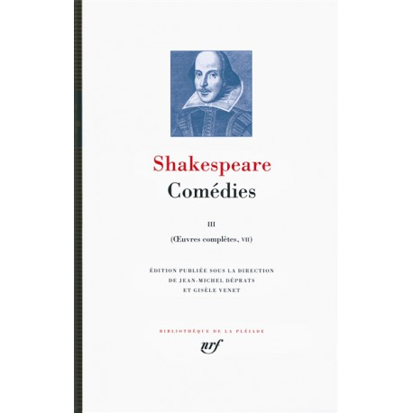 Shakespeare, Comédies III, Oeuvres complètes, tome VII